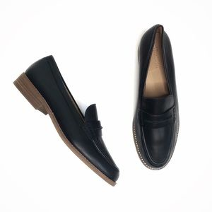 Madewell NEW Elinor Loafer Black Leather Size 11